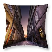 The Alley Of Cracov Throw Pillow