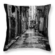 The Alleyway In Market Square - Knoxville Tennesse Throw Pillow