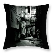 The Alleyway Throw Pillow