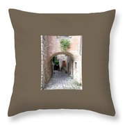 The Alleyway To Home Throw Pillow