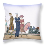 The Allies In Versailles Throw Pillow