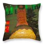 The Almighty Ll Bean Boot Throw Pillow