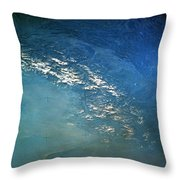 The Alps From Space Throw Pillow by Anonymous