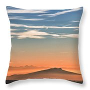 The Alps Sunset Over Fog Throw Pillow