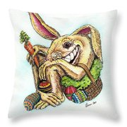 The Altered Easter Bunny Throw Pillow