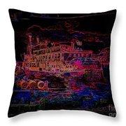 The Alton Belle In Neon Framed Throw Pillow