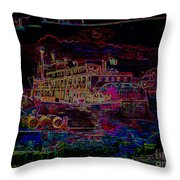 The Alton Belle In Neon Throw Pillow