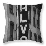 The Alva - Black And White Throw Pillow