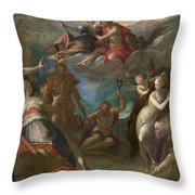 The Amazement Of The Gods Throw Pillow
