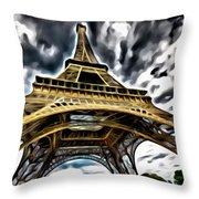 The Amazing Eiffel Throw Pillow