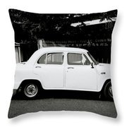 The Ambassador Car Throw Pillow