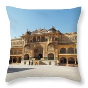 The Amber Fort Throw Pillow