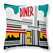 The American Diner  Throw Pillow