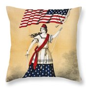 The American Flag A New National Lyric Throw Pillow