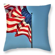 The American Flag No Retreat No Surrender  Throw Pillow