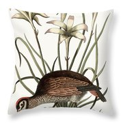 The American Partridge Throw Pillow