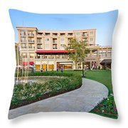 The Americana At Brand Outdoor Shopping Mall In California. Throw Pillow