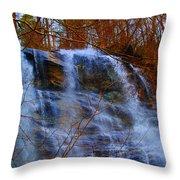 The Amicalola Waterfall Throw Pillow