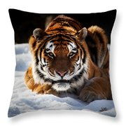 The Amur Tiger Throw Pillow