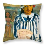 The Ancestors Of Tehamana Or Tehamana Has Many Parents.merahi Metua No Tehamana. Throw Pillow