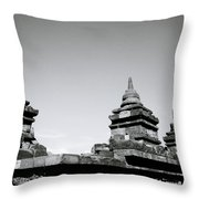 The Ancient Stupas Of Borobudur Throw Pillow