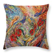 The Anemon Flowers Throw Pillow