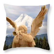Sounds Of The Angel  Throw Pillow
