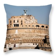 The Angel In The Fortress Throw Pillow