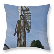 The Angel Of Bargoed 2 Throw Pillow
