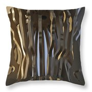 The Angel Of Bargoed Abstract Throw Pillow