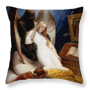 The Angel Of Death Throw Pillow