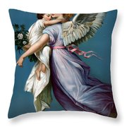 The Angel Of Peace Throw Pillow