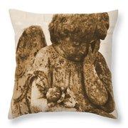 The Angel Virginia Throw Pillow