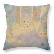 The Angels Choir A Celebration Throw Pillow