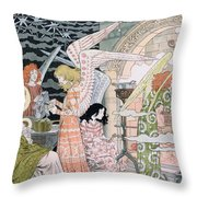 The Angels Kitchen Throw Pillow by Eugene Grasset