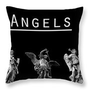The Angels Of Rome Throw Pillow