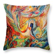 The Angels On Wedding Triptych - Center Throw Pillow