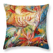 The Angels On Wedding Triptych - Right Side Throw Pillow