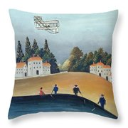 The Anglers, C.1908-09 Oil On Canvas Also See 309520 Throw Pillow