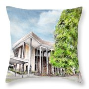 The Angles Of A Modern Architecture  Throw Pillow