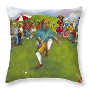The Angry Golfer  Throw Pillow