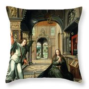 The Annunciation, Early 16th Century Throw Pillow