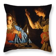 The Annunciation Throw Pillow