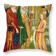 The Annunciation To Joachim And Anne, From The Dome Altar, 1499 Throw Pillow