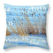The Answer Is Blowing In The Wind Throw Pillow
