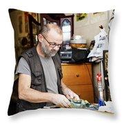 The Antique Dealer Throw Pillow