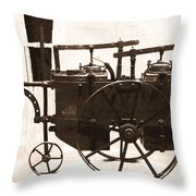 The Antique Farming Machine  Throw Pillow
