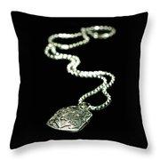 The Antique Locket Throw Pillow