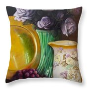 The Antique Pitcher Throw Pillow by Marlene Book