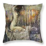 The Antique Sofa Throw Pillow